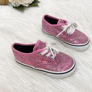 Vans Baby/ Toddler Pink Glitter Sneakers Sz 6.5